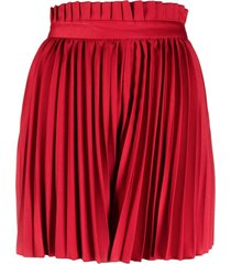 atu body couture wide-leg pleated shorts - red
