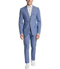 paisley & gray slim fit suit separates coat blue seersucker stripe