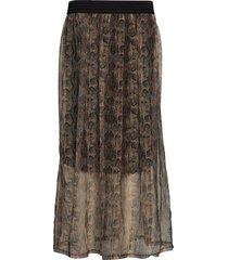 kalaura long skirt knälång kjol brun kaffe