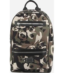 les hommes nylon backpack with all-over camouflage print