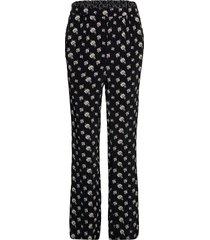 trousers pantalon met rechte pijpen zwart noa noa
