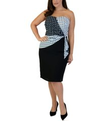 maree pour toi plus size bustier sheath dress