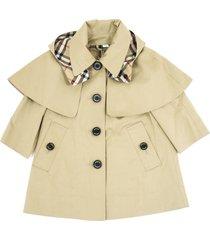 burberry a-line coat in showerproof cotton twill