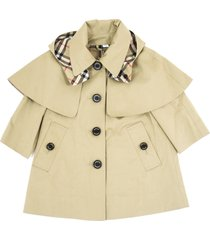 burberry a-line coat in showerproof cotton twill