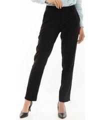 pantalon para mujer en poliester tafetan negro negro talla 12