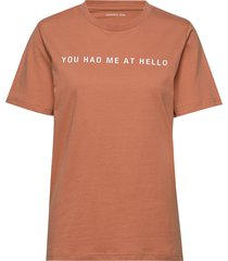 printed recycled cotton t-shirt t-shirts & tops short-sleeved orange designers, remix