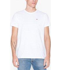 tommy jeans tjm original jersey tee t-shirts & linnen vit