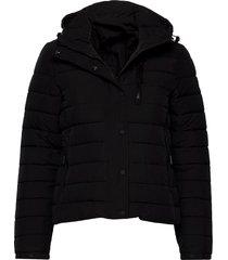 classic fuji padded jacket fodrad jacka svart superdry