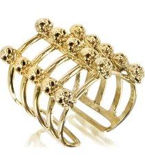 bernard delettrez designer rings, cage and skulls bronze ring
