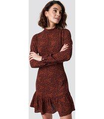 rut&circle leo print dress - red