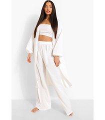 tall bandeau kimono en broek set, ivory