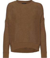 pullover long sleeve stickad tröja brun marc o'polo