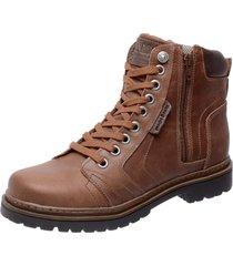 bota coturno em couro mega boots 6015 castanho - marrom - masculino - dafiti