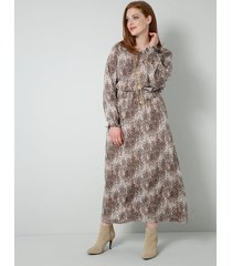 jurk sara lindholm beige::bruin