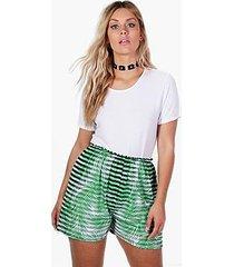 plus lydia palm ruffle shorts