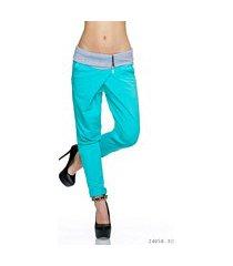 stof-broek turquoise-groen