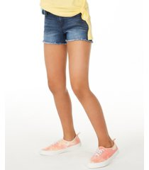 epic threads big girls denim shorts with rainbow wallet belt, created for macy's