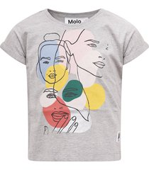 molo grey t-shirt with colorful for girl