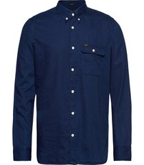 button down variatio overhemd casual blauw lee jeans