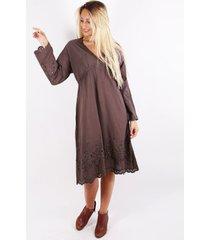 vestido marrón spiga 31