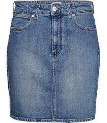 mid length skirt kort kjol blå wrangler
