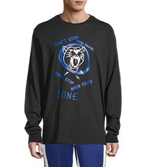 puma men's basketball franchise street graphic t-shirt - black - size xl