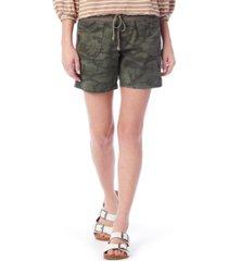 unionbay christy tropical camo-print convertible shorts