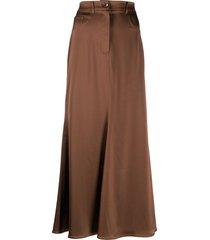nanushka a-line skirt - brown