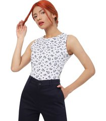 camiseta ramillete mujer color blanco, talla s