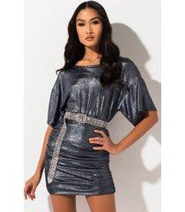 akira firefly metallic mini dress