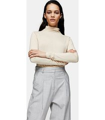 *cream pintuck turtle neck t-shirt by topshop boutique - cream