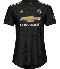 mufc a jsy w t-shirts & tops football shirts zwart adidas performance