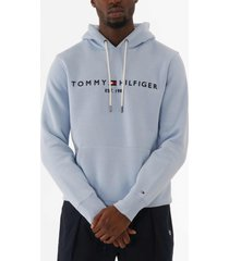 tommy hilfiger tommy logo hoodie - chambray blue mw0mw10752