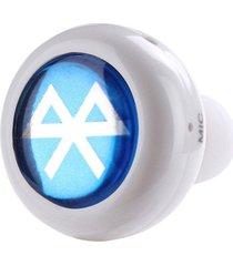 audifonos bluetooth, mini a cancelación de ruido de música estéreo audifonos bluetooth manos libres  4.0 auricular auricular inalámbrico handfree con micrófono(blanco)