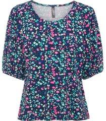 maglia con maniche a palloncino e lenzing™ ecovero™ (fucsia) - rainbow
