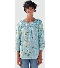 blouse dress in lindegroen