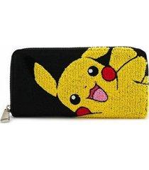 billetera pikachu waving - negro y amarillo