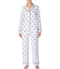 2-piece printed stretch pajama set