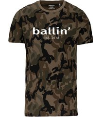 t-shirt korte mouw ballin est. 2013 army camouflage shirt