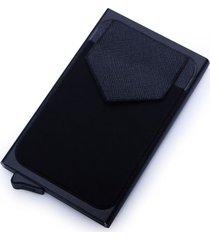 billetera cartera aluminio proteccion rfid qb0097 negro