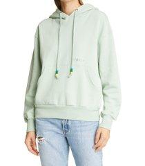women's staud hoodie sweatshirt, size medium - green