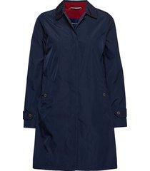 d1. memory mac coat trenchcoat lange jas blauw gant