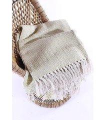 koc pled z frędzlami bawełniany xavi