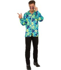 buyseasons men's button front flower shirt adult costume