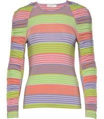 carlin, 771 rayon jersey t-shirts & tops long-sleeved multi/patroon stine goya