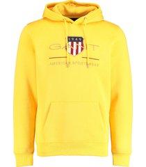 gant hoodie archive shield geel rf 2047056/728