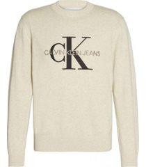 sweater monogram simple gris calvin klein