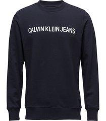 core institutional l sweat-shirt trui blauw calvin klein jeans