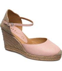 castilla_20_sty sandalette med klack espadrilles rosa unisa