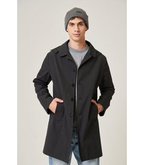 campera negra prototype   mc coat capucha